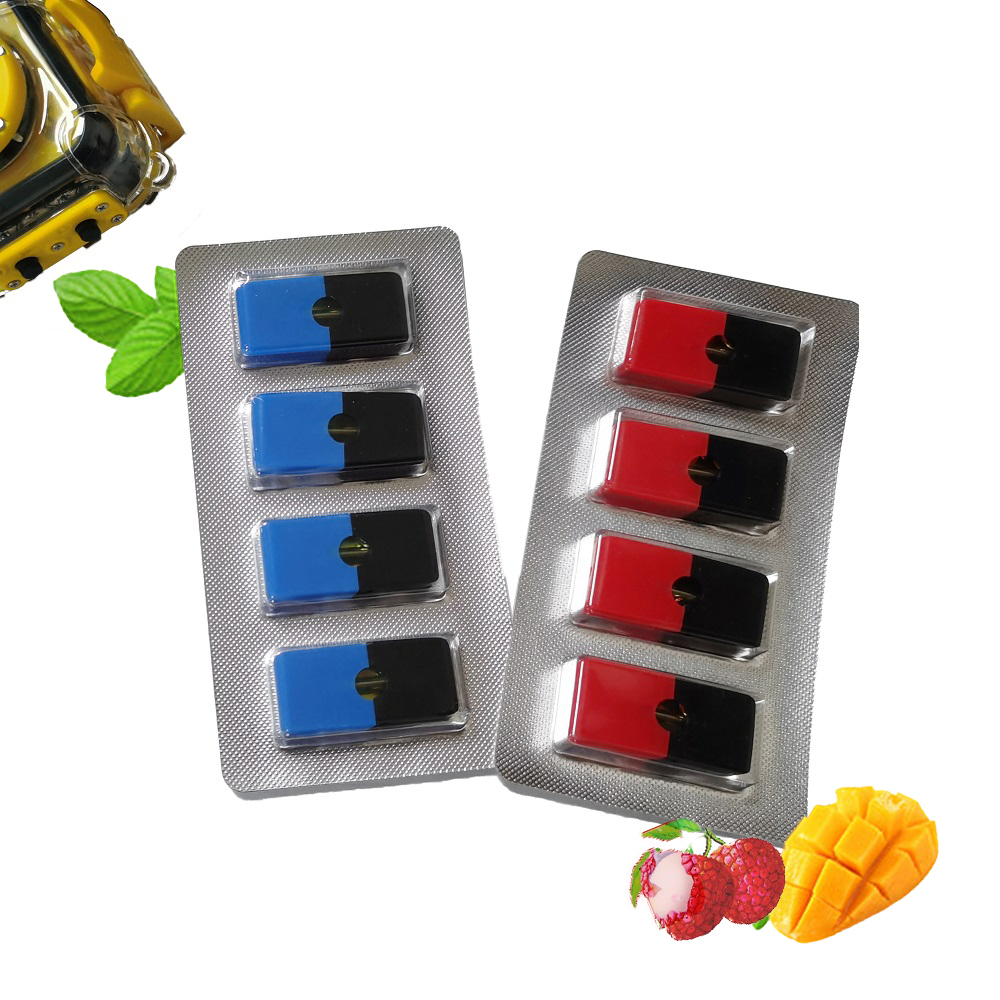 Mini Hookah 1.0ml Vape Cartridges For JUUL/JULL/JEEL Vapor Cartridges E-cigarette Filled Atomizer Blueberry Tank Vape Pods