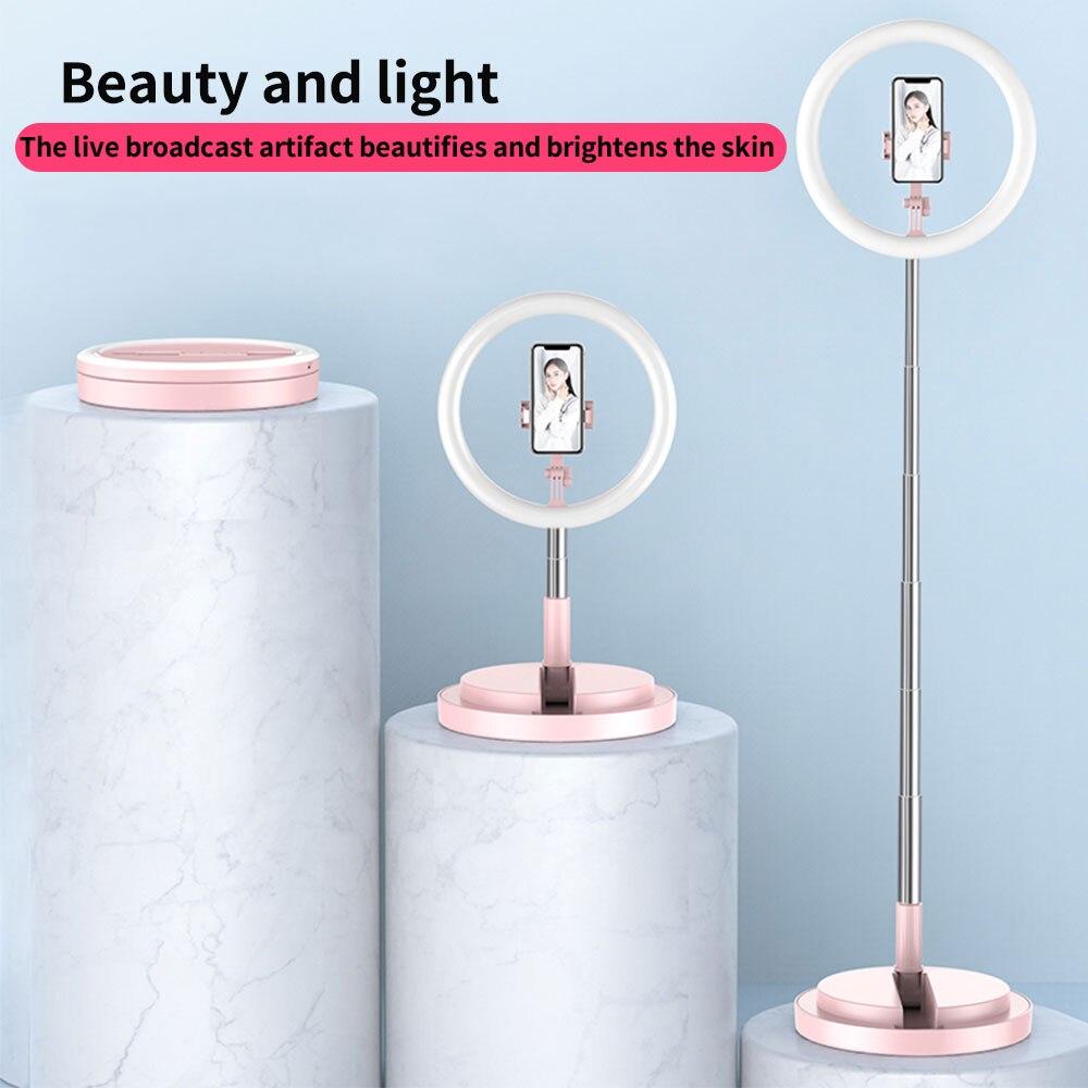 LED Selfie Anneau Lumière Support Pour Téléphone Pour Diffusion en direct/maquillage/YouTube Vidéo Dimmable Beauté Ringlight Pliable Lumière de Remplissage Support