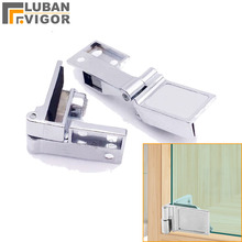For glass thickness 3-6mm,glass door hinge/clamp/clips,Zinc alloy,No hole ,for Wine cooler, cabinets,showcase hinge,hardware,