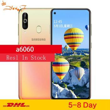 Перейти на Алиэкспресс и купить Мобильный телефон Samsung Galaxy A60 A6060 LTE, 6,3-дюймовый экран, 6 ГБ ОЗУ 128 Гб ПЗУ, Восьмиядерный процессор Snapdragon 675, камера 32 Мп + 8 Мп + 5 Мп