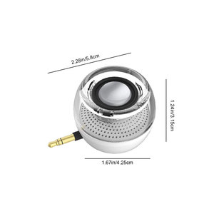 Image 4 - Portable HIFI 3D Surround 3.5mm Aux Audio Jack Mini Wireless Round Shape Powerful Crystal Speaker Clear Bass Plug And Play