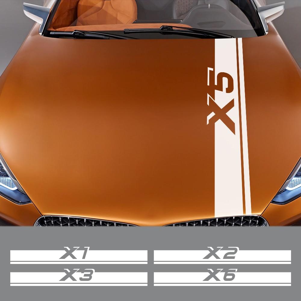 Автомобильная наклейка для BMW X5 E53 E70 F15 G05 X1 F48 X3 F25 X6 E71 X2 F39 X4 F26 X7 G07, автомобильные аксессуары, капот, виниловая пленка, наклейки