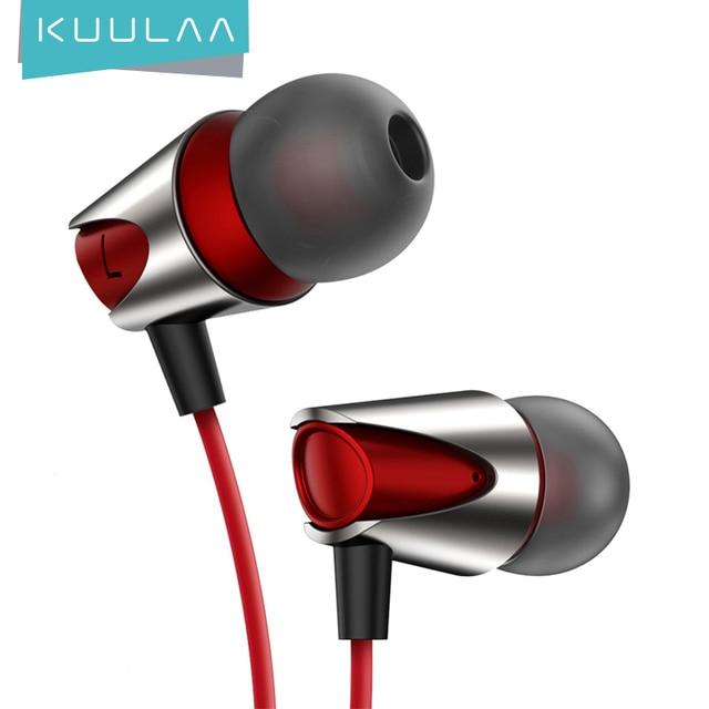 KUULAA Sport Earphone In Ear Earphones Bass Wired Headset 3.5mm Jack Earphones Wired For iPhone Xiaomi Huawei Fone De ouvido