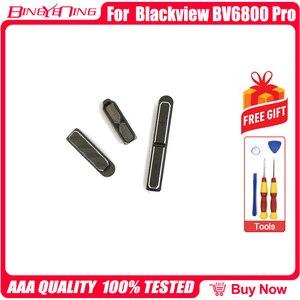 Image 3 - Novo original de esquerda e direita peças decorativas + botão volume energia para blackview bv6800 pro bateria capa decoração peças de metal