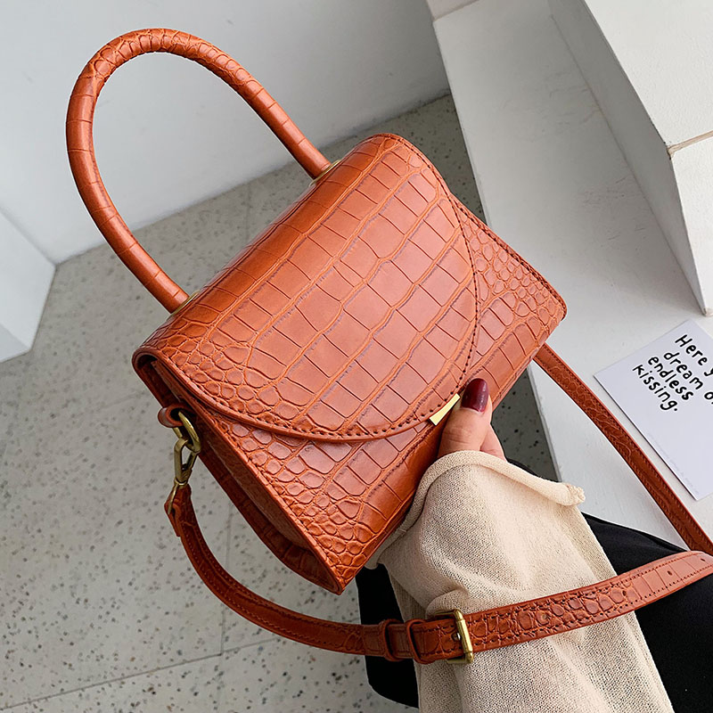Stone Pattern PU Leather Crossbody Bags For Women 2019 Luxury Quality Shoulder Messenger Bag Lady Designer Handbags Totes