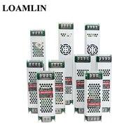Fuente de alimentación LED ultradelgada, transformador de iluminación DC12V, 60W, 100W, 150W, 200W, 300W, controlador de AC190-240V para tiras LED