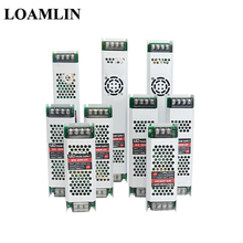 Ultra Dünne LED Netzteil DC12V Beleuchtung Transformatoren 60W 100W 150W 200W 300W AC190-240V Fahrer für LED Streifen