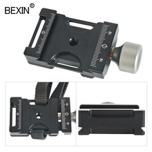 Camera Quick Release Plate Clamp Dslr Shoulder Strap Seat Belt Clamp Adapter Tripod Head Clamp For Arca Swiss Ball Head