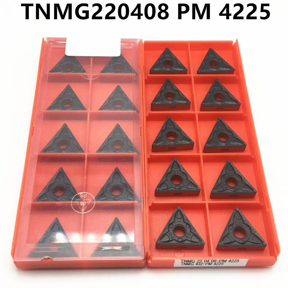 20pcs cemented carbide TNMG220408 PM 4225 high quality super hard carbide blade metal tool CNC lathe tool TNMG 220408