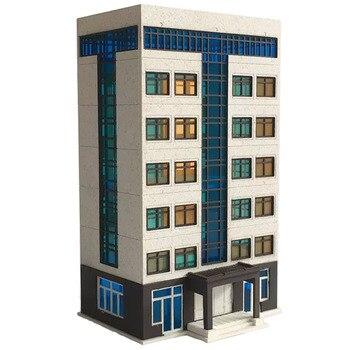 9 x 5.5 x 15cm 1:150 N Scale Sand Table Decoration DIY Assembly Model Modern Building ho scale miniatures landscape - White