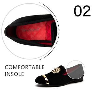 Image 4 - Мужские лоферы без застежки MEIJIANA, черные повседневные кожаные туфли, модная брендовая Свадебная обувь, большие размеры, 2019