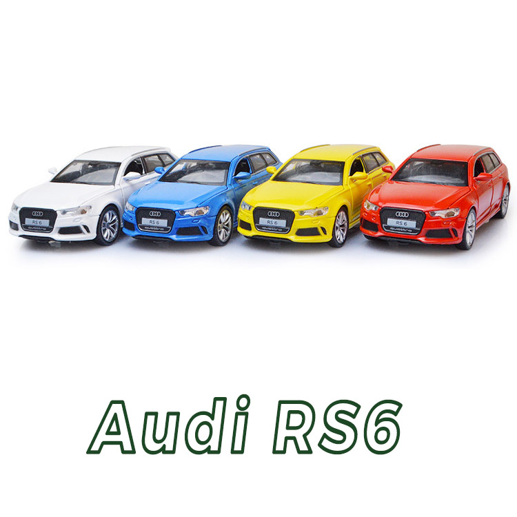 1:32 Scale Audi RS6 Quattro Diecast Alloy Metal Luxury Car Model Pull Back Car For Children Toys With Collection Free Shipping