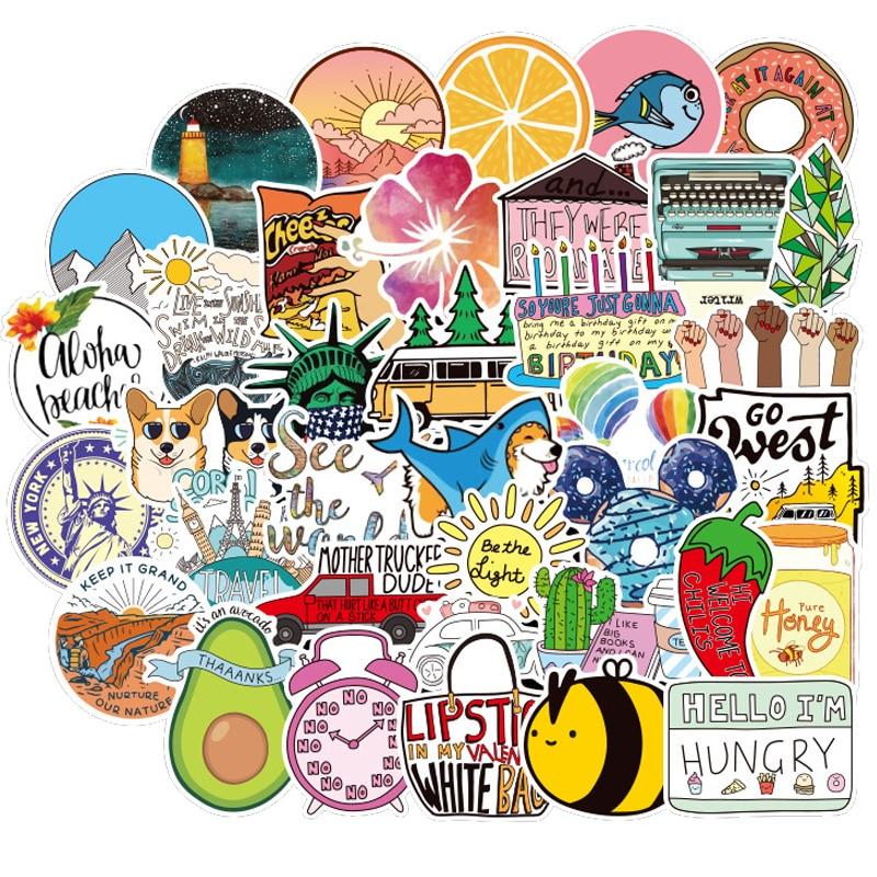 100PCS Kawaii Vine VSCO Girls Sticker Waterproof For DIY Decal Laptop Fridge Phone Luggage Bicycle Helmet Car Stickers