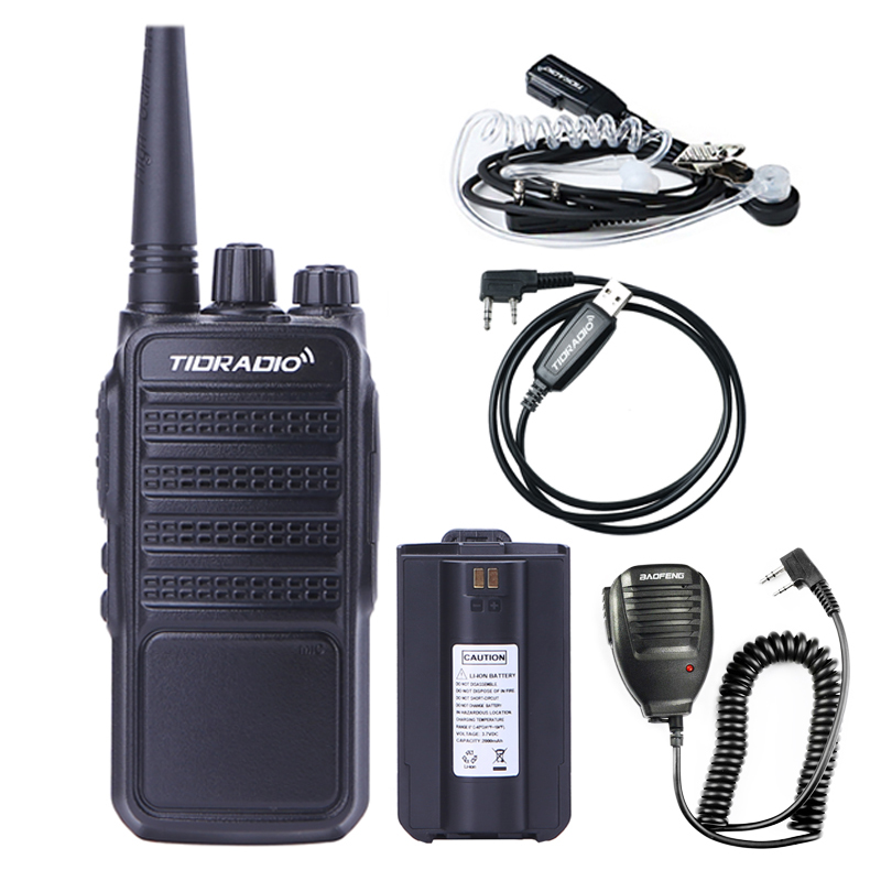 Walkie Talkie TIDRADIO TD-Q2 Radio Stations UHF 400-480MHz 16CH 2000mAh Battery Portable Talkie-walkie HF Transceiver Ham Radio