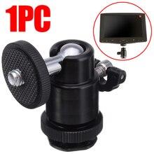 For Camera Tripod LED Light Flash 1pc High Quality Tripod Bracket Holder Mount 1/4 Hot Shoe Adapter Cradle Ball Head Mayitr