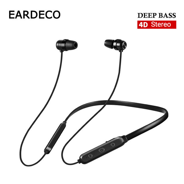 EARDECO 4D Stereo Wireless Headphones Strong Bass Bluetooth Earphone Headphone Noise Earbuds Wireless Earphones Headset with Mic