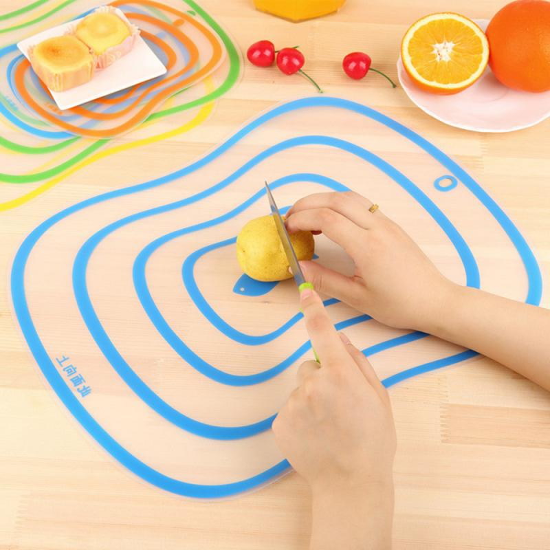 Cutting-Board Kitchen-Accessories Vegetable-Meat-Tools Frosted Plastic Non-Slip 1PCS title=