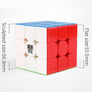 Image 2 - Moyu Weilong GTS 3 M 3x3x3 Magic Cube Magnetic O GTS2 GTS2M di Plastica Puzzle Cubo di Velocità v2 V3 Weilong GTS3M