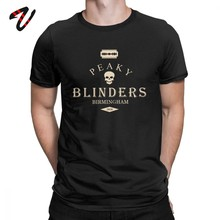 Peaky Blinders T Shirts Mannen Arthur Thomas Tommy Shelby Tops Swag Tees Plus Size Korte Mouw 80s T-Shirt O hals Katoenen Kleding(China)