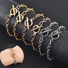 Stainless Steel Bracelet Chain For DIY Fashion Women Men Jewelry Bracelet Making Jewelry Finding Accessories 19cm