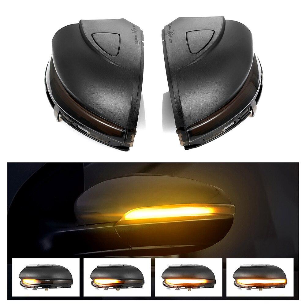 דינמי נצנץ LED להפוך אות אור עבור פולקסווגן פולקסווגן גולף 6 VI MK6 GTI R קו R20 טוראן צד מראה חיווי סדרתית
