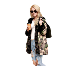 Camouflage Self-cultivation Warm Womens Coat Long Hooded Military To Overcome Plus Size Women Tunic Print New S-5XL