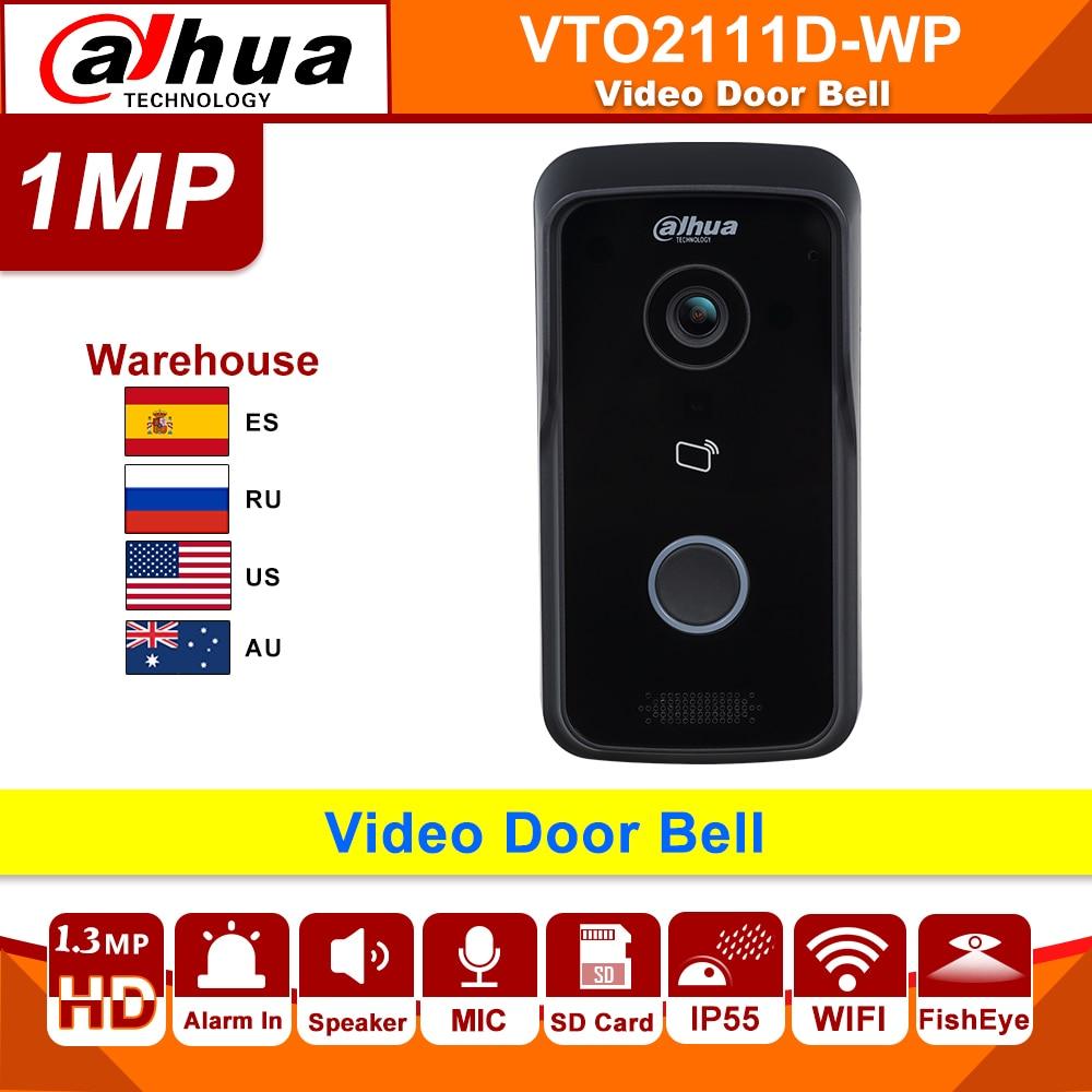Original Dahua  Intercom Video Door Phone WIFI VTO2111D-WP DC 12V POE WIFI IP Metal Villa P2P Villa Outdoor Station
