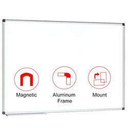 90x90 cm (36x36 inches) Magnetic White Board Dry Erase Board Wall Mounted Whiteboard