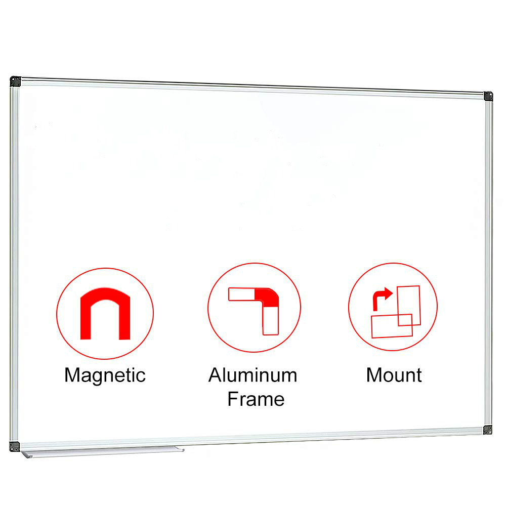 Magnetic White Board 90x90 Cm (36x36 Inches) Dry Erase Board Wall Mounted,Large Size