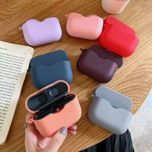 Image 2 - אוזניות מקרה עבור Sony WF 1000XM3 פשוט מוצק צבע אלחוטי Bluetooth אוזניות מגן כיסוי מחשב קשה פגז טעינת תיבה
