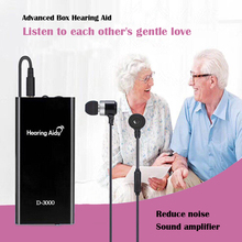 Hearing Aid Pocket Sound Amplifier Rechargeable Adjustable Volume For Deaf Elderly Bone Conduction Headphones