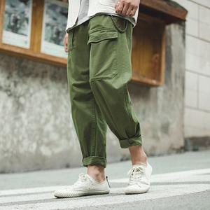 Image 3 - Maden Retro Military Style Loose p37 Military Pants Classic Straight Big Pocket Casual Pants Male