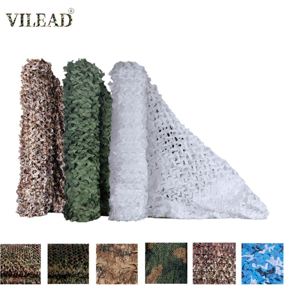 VILEAD Simple 21 Colors Camouflage Nets 3x5 2x3 3x3M Military Army Hunting Camo Netting Mesh For Car Tents Sun Shelter Covers