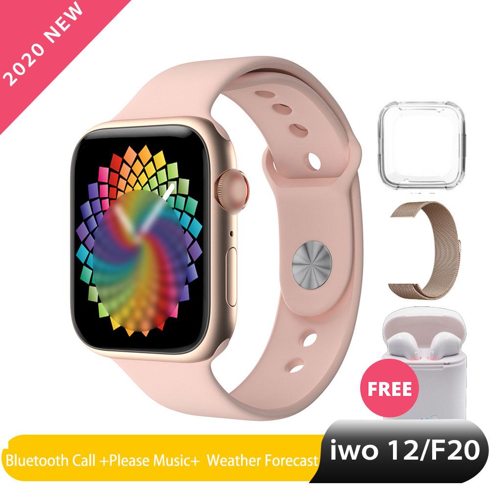 Iwo 12 Pro Smart Watch Women Man Bluetooth Calling Watch Series 5 For Apple Ios Samsung Phone Android Wear Heart Rate PK Iwo 13