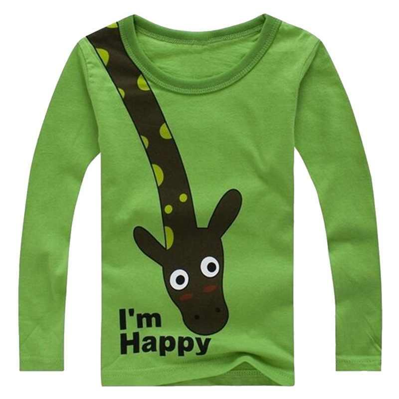 Camiseta superior para niño, camiseta estampada para niños, camiseta de primavera otoño para niños, Camiseta de algodón de manga larga para niñas, camisetas de dibujos animados para bebés