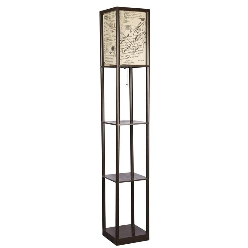 prateleiras de exibição de armazenamento-moderna lâmpada de