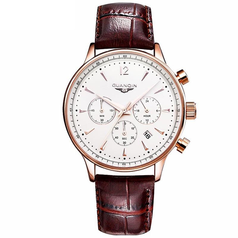 2020 New Automatic Mechanical Men Watch Original 3 Eyes Fashion Luxury Brand Leather Business Watches Relogio Masculino