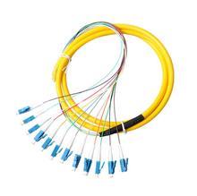 12 Strand 9/125 Fiber Optic Pigtail 3m LC/UPC Single Mode