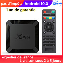 New X96q Android 10.0 TV box IPTV Box X96 q 1G 8G 2G 16G Allwinner H313 Smart Ip Tv Set Top Box Ship From France