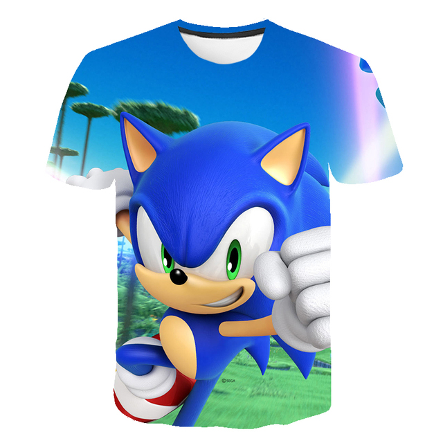 Summer 3d Boys T Shirts Girls Mario Sonic The Hedgehog Funny Camiseta Children Clothing Kids Clothes Baby Boys Tshirts Street T Shirts Aliexpress