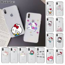 Maiyaca Lucu Hello Kitty Kustom Fundas Foto Ponsel Case untuk Apple Iphone 11 Pro 8 7 66S Plus X XS MAX 5S SE XR Mobile Cover(China)