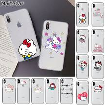 MaiYaCa Cute Hello kitty Custom fundas Photo Soft Phone Case for Apple iPhone 8 7 6 6S Plus X XS MAX 5 5S SE XR Mobile COVER(China)