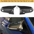 Автомобильные Боковые зеркальные Чехлы для BMW F20 F22 F30 F31 F35 F34 F32 F33 F36 E84 углеродное волокно глянцевое черное зеркало заднего вида крышки LHD