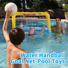 Inflatable Football Goal Net-Pool Volleyball Water Balloons Swimming Pool Sports Game Toys Beach Party Ball for Children Adult(China)