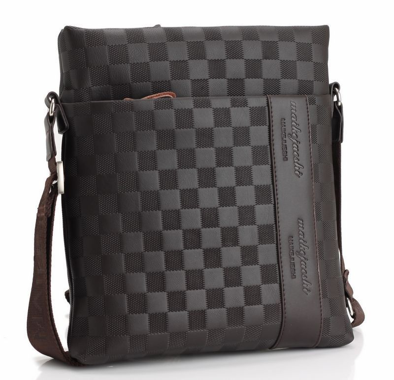 2019new Fashion Men's Bag Vertical Single Shoulder Bag Men's Messenger Bag Business Leisure Breathable Single Shoulder Briefcase