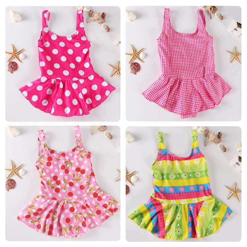 Korean-style One-piece Swimsuit For Children Triangular Princess Dress Big Boy Tour Bathing Suit Students Swimwear Nt11601