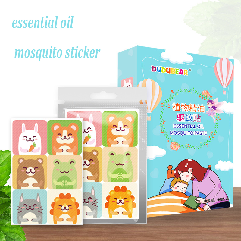 24pcs Mosquito Repellent Patch Cute Cartoon Anti Mosquito Sticker Repeller Baby Family Mosquito Killer Trap Insect Pest Control