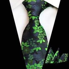 Мужской галстук в британском стиле Вышитый цветочный носовой