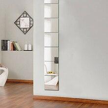 Акриловые квадратные настенные наклейки зеркало 9 шт./компл. 15x15 см наклеить на Ресторан Проход пол Гостиная личности декоративные зеркала