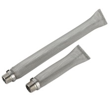Stainless Steel Beer Filter Tube Reusable Beer Filter Brewing Kettle Bazooka Screen Multifunction Mesh Strainer Wine Thread B(China)